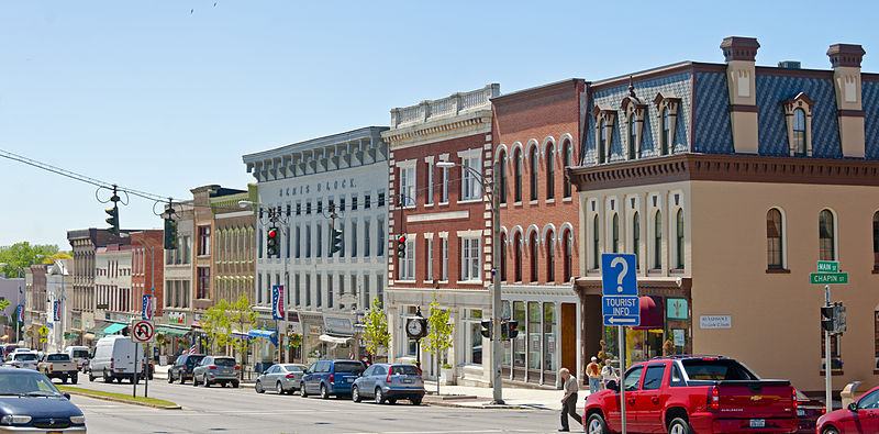 Bemis_Block_and_other_buildings_on_South_Main_Street,_Canandaigua,_NY by Daniel Case