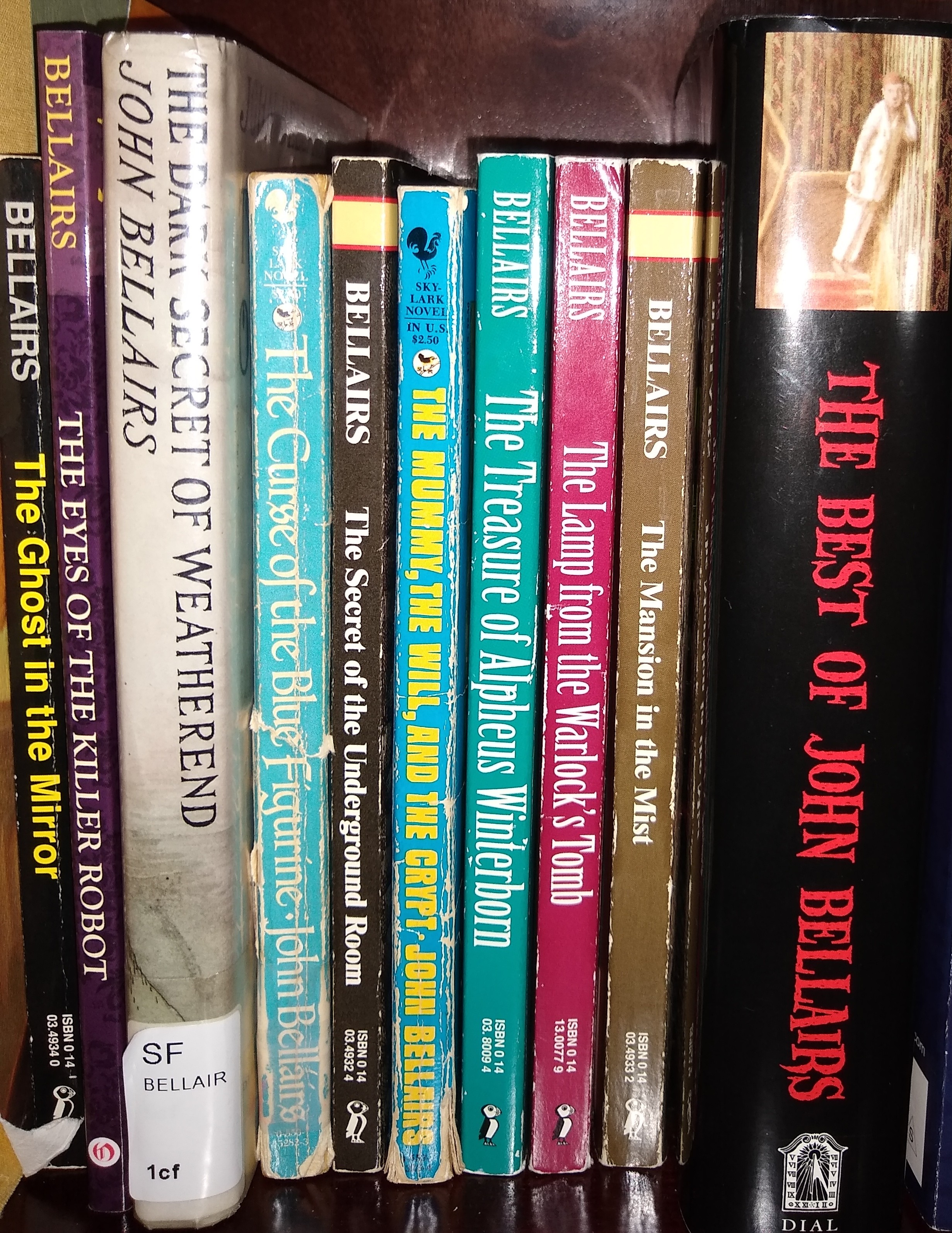 John Bellairs Book Spines by Todd Wellman